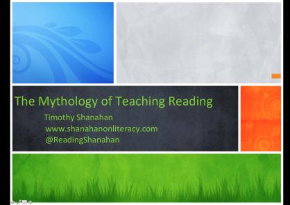 Mythology of Reading Instruction