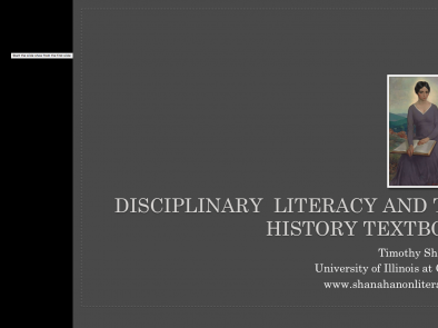 Disciplinary Literacy and History Textbooks
