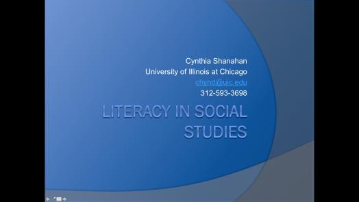 Literacy in Social Studies