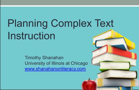 Planning Complex Text Instruction