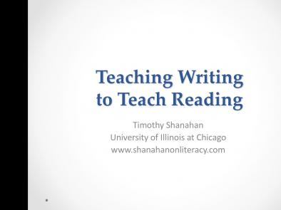 Teaching Writing to Teach Reading