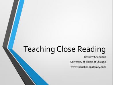 A Closer Look at Close Reading