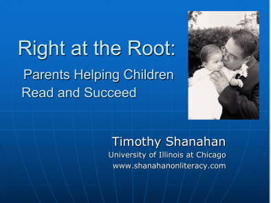Right at the Root: Parents Helping Children to Read and Succeed