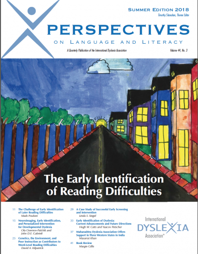 The Early Identification of Reading Difficulties