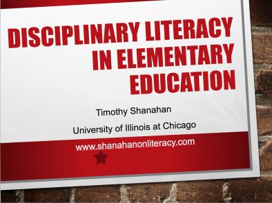 Elementary Disciplinary Literacy