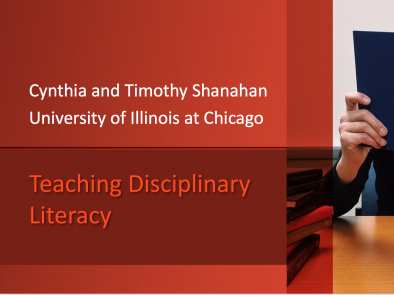 Teaching Disciplinary Literacy