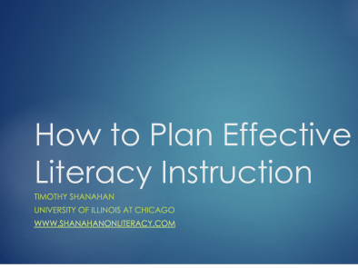 How to Plan Literacy Instruction