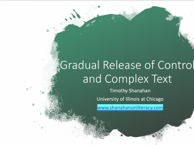 Gradual Release of Responsibility and Complex Text