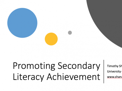Promoting Secondary Literacy