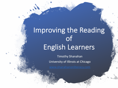 Improving the Learning of English Learners