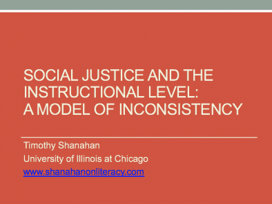 Social Justice and the Instructional Level