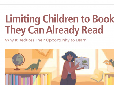 Limiting Children to Books They Can Already Read