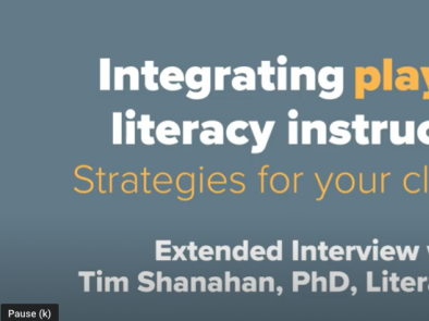 Integrating Play Into Literacy Instruction