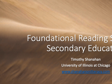 Foundational Reading Skills and Secondary Education
