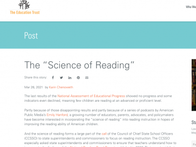 Education Trust: Science of Reading